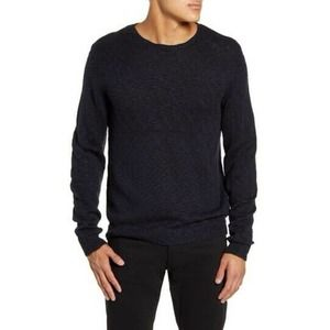 Calibrate Slub Crewneck Sweater Blue Black 2833